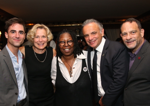 From (L) to (R): Quinn Tivey; Ambassador Deborah L. Birx, M.D., U.S. Global AIDS Coordinator and Special Representative for Global Health Diplomacy; Whoopi Goldberg; Luiz Loures, Deputy Executive Director UNAIDS, and Joel Goldman, Managing Director of The Elizabeth Taylor AIDS Foundation. Photo credit: Paul Zimmerman/Getty Images for The Elizabeth Taylor AIDS Foundation (PRNewsFoto/The Elizabeth Taylor AIDS Found)
