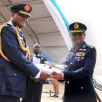 Pic.26. Chief of Air Staff  of the Pakistani Air Force, Air Chief Marshal Sohail Aman (R) handing over documents on the Super Mushshak Aircraft from his Force to the Chief of Air Staff of Nigeria, Air Marshal Sadique Abubakar, at the ceremony in Kaduna on Monday (5/12/16). 8876/5/12/2016/Suleiman Shuaibu/BJO/NAN