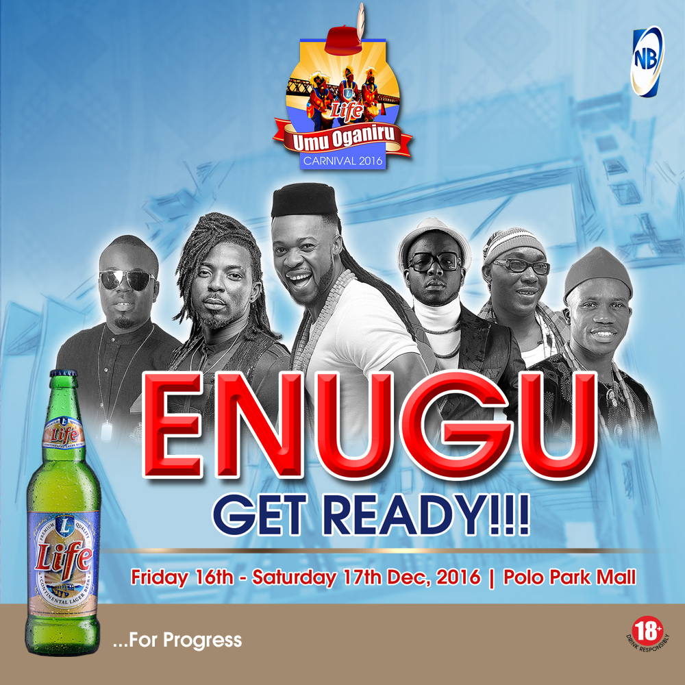 Guess Which Superstar will be at the Life Beer Umu Oganiru Carnival in Enugu today & tomorrow? It's Flavour!