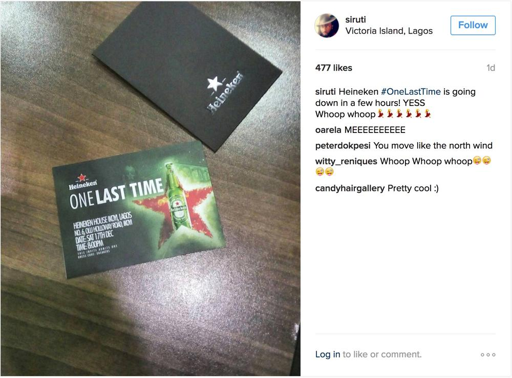 Kemi Adetiba, Toke Makinwa, Uti Nwachukwu & more Influencers to attend the Heineken #OneLastTime party | Tomorrow, December 17th