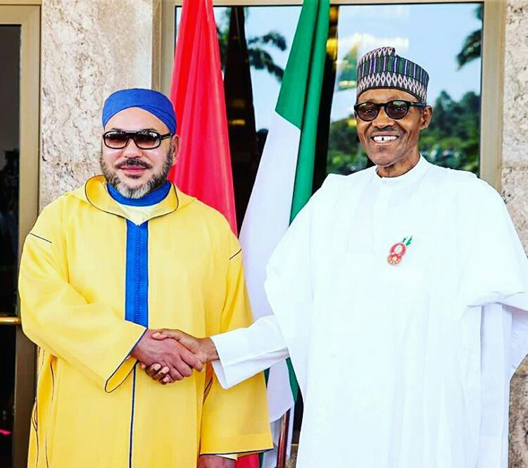 Image result for photos of king morocco and buhari