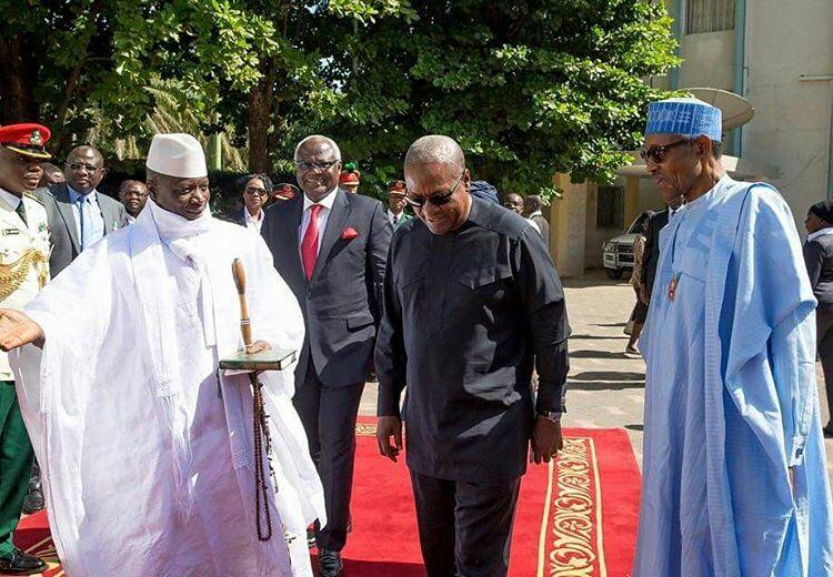 Buhari, Mahama, Sirleaf, Koroma visit Jammeh