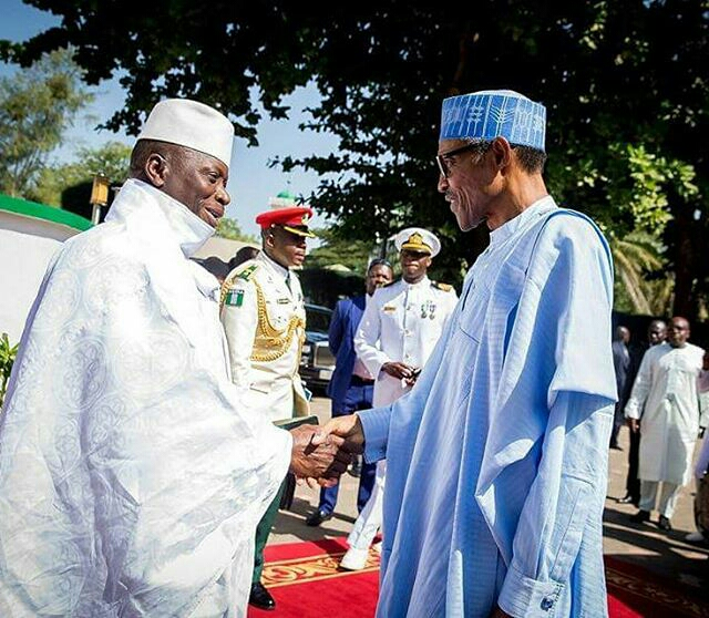 Buhari, Mahama, Sirleaf, Koroma visit Jammeh3