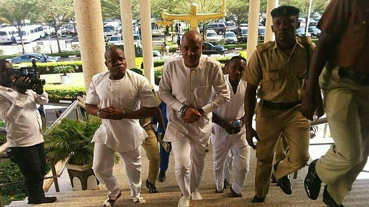 Nnamdi Kanu in Court today