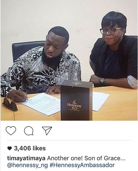 Timaya Endorsement Deal