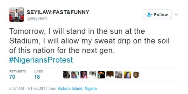 #IStandwithNigeria: February 6 protesters disown 2face Idibia