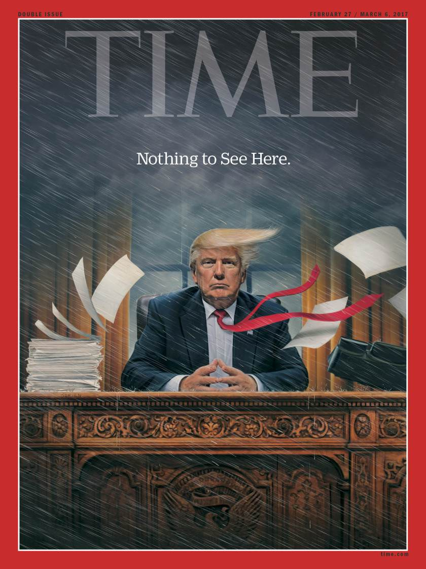 chaos for america s new president check out the cover for time magazine s latest issue bellanaija. Black Bedroom Furniture Sets. Home Design Ideas