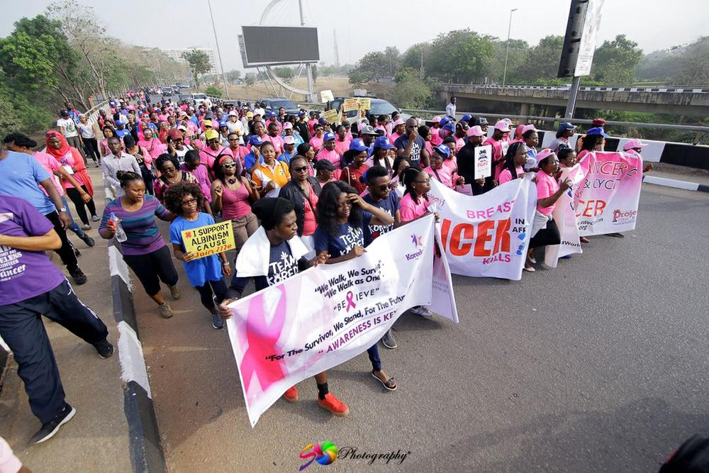 Denrele Edun, Korede Bello, Others Lead World Cancer Day 2017 Walk Organized by Project PINK BLUE | Photos
