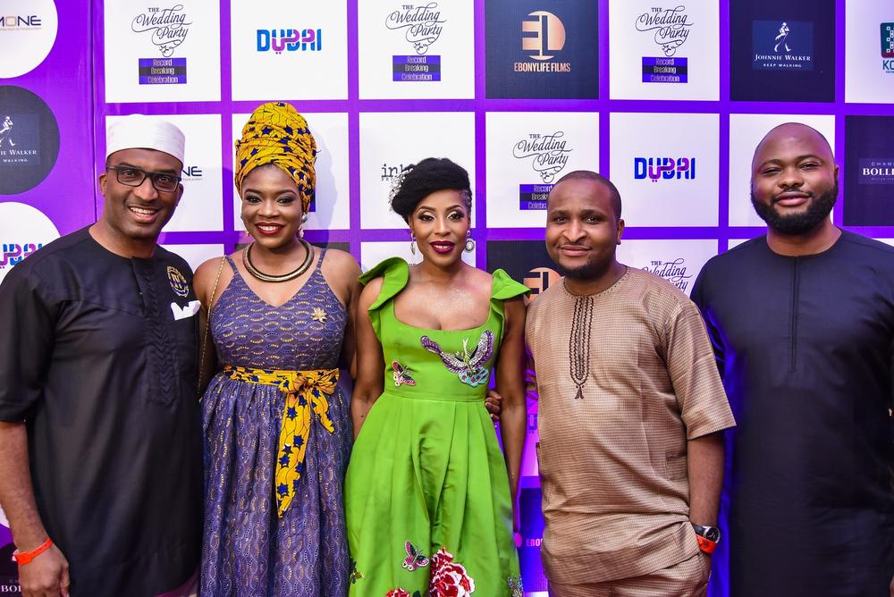 Red Carpet Moments :  Mo Abudu, Kemi Adetiba, Beverly Naya at 'The Wedding Party' Record Breaking Party