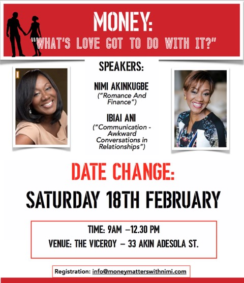 """And the winners for the competition to attend """"Money: What's love got to do with?"""" are…"""