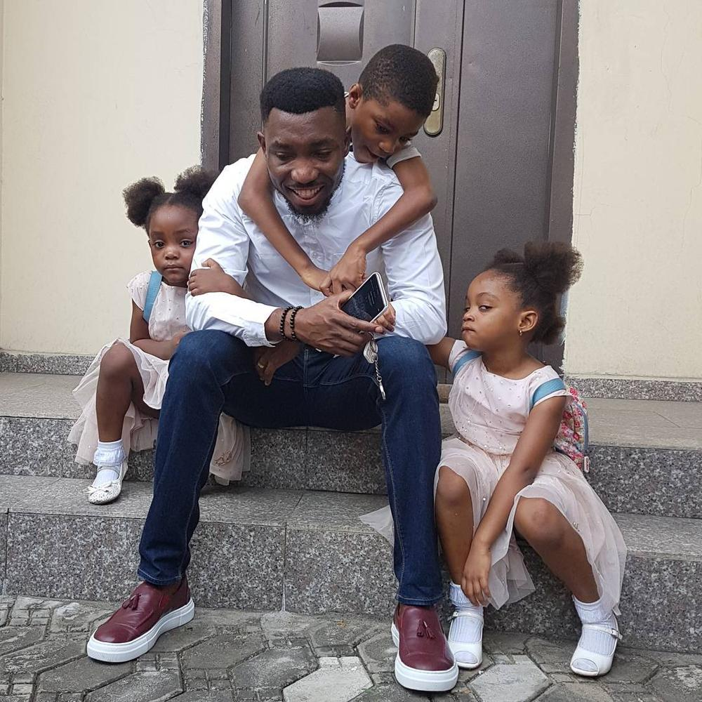 """Forever is just a start… Forever was made for you and me"" – Timi Dakolo to his wife Busola on their 5th Wedding Anniversary"