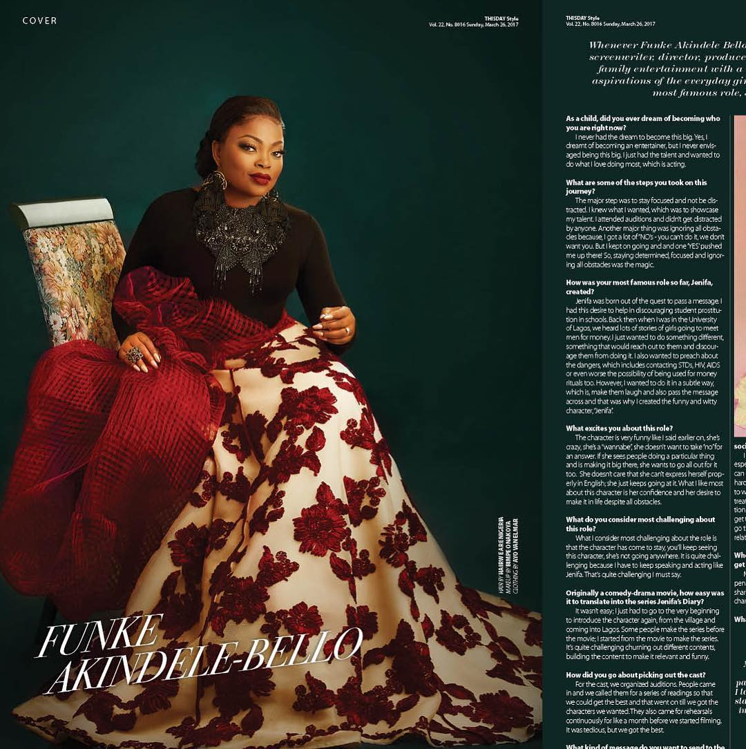 Funke Akindele Bello Sits Exquisitely On The Cover Of ThisDay Syle