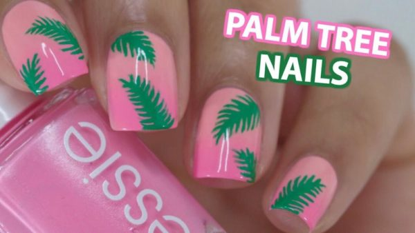 Monday Manicure Try This Super Cute Palm Tree Nail Art By Gabby
