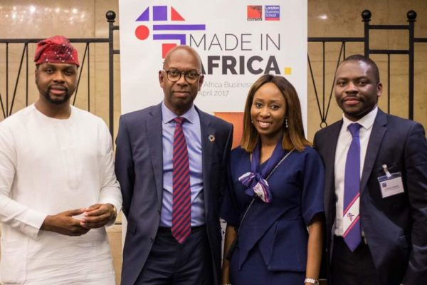 Adebola Wiiliams and Bob Collymore with chair and President of London School of Business Africa Business Summit