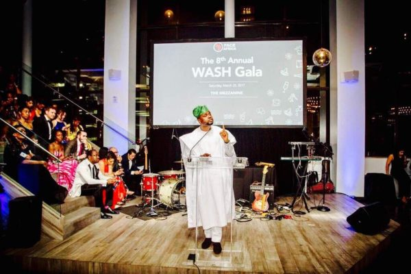 Adebola Williams delivering the keynote address at 8th Annual Face Africa Wash Gala in NewYork