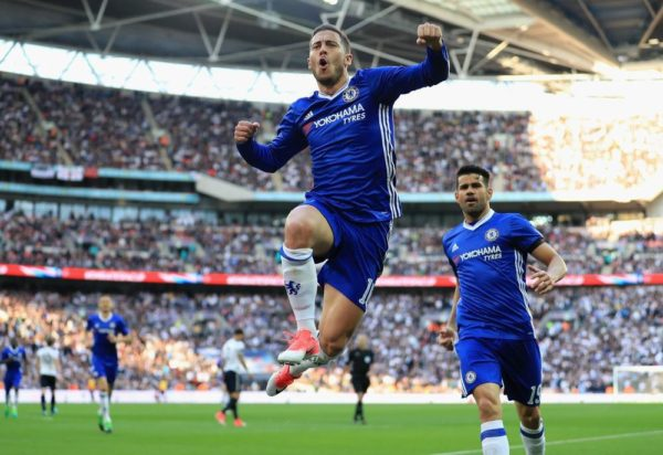 Eden Hazard Celebration against Tottenham