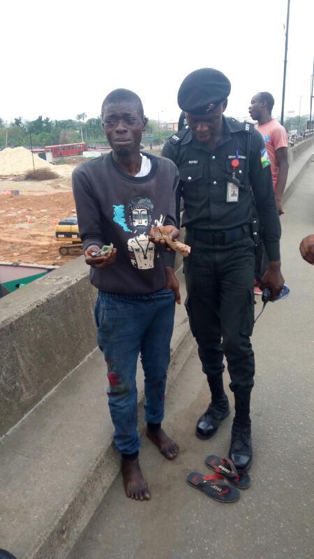 The suspect, Emmanuel Alowonle