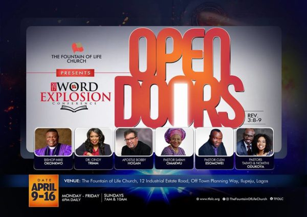 THE FOUNTAIN OF LIFE CHURCH HOLDS ITS 2017 WORD EXPLOSION CONFERENCE THEMED u0027OPEN DOORSu0027 & THE FOUNTAIN OF LIFE CHURCH HOLDS ITS 2017 WORD EXPLOSION CONFERENCE ...