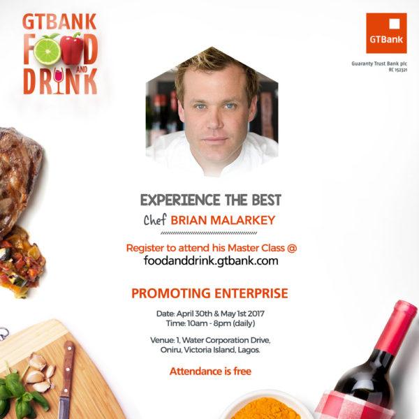 Chef Brian Malarkey at GTBank Food and Drink Fair BellaNaija
