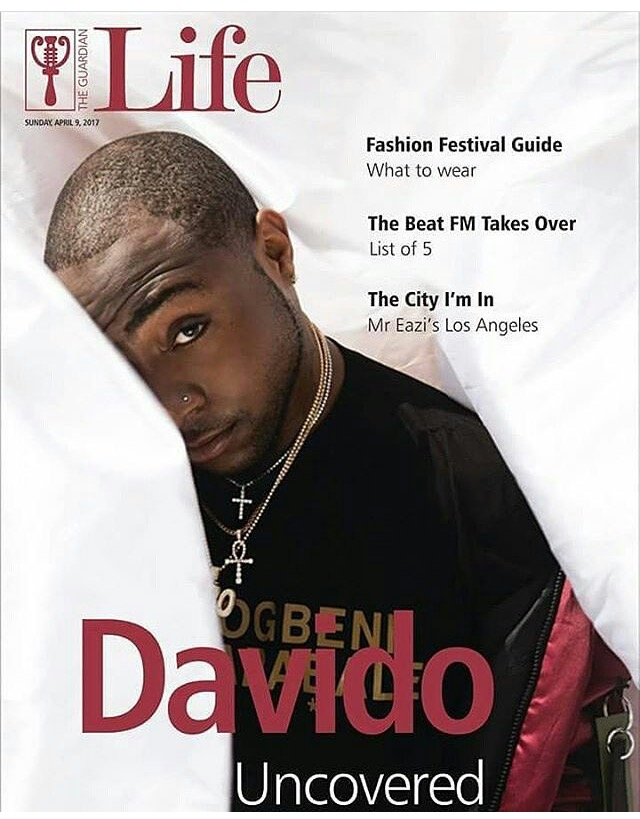 "Davido gets ""Uncovered"" in the Latest Issue of Guardian Life Magazine 