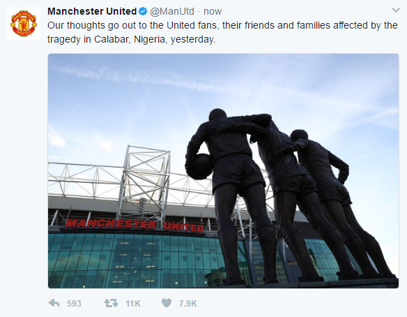 Manchester United Calabar Electrocution