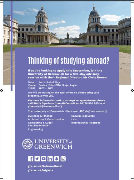 University of Greenwich advisory session