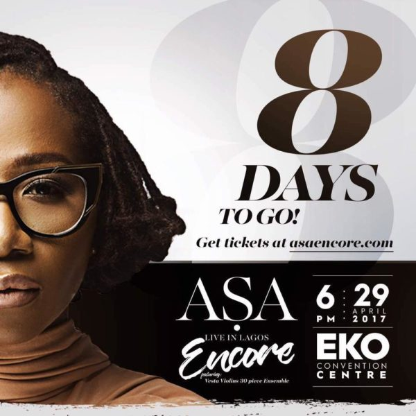Are you Ready for Asa Live in Lagos Encore? It's 8 Days Away!