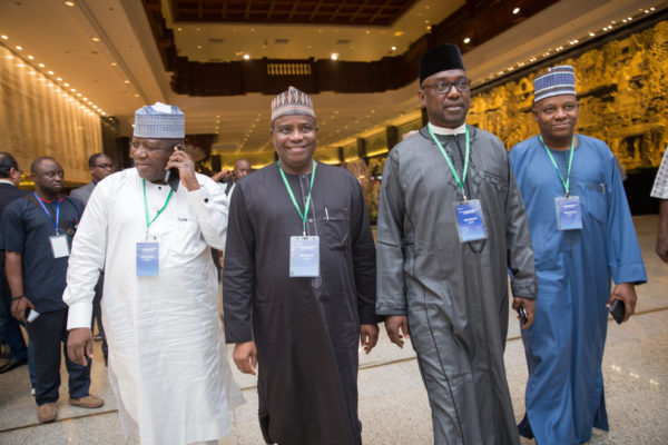 A cross section of Nigerian State Governors at the Forum
