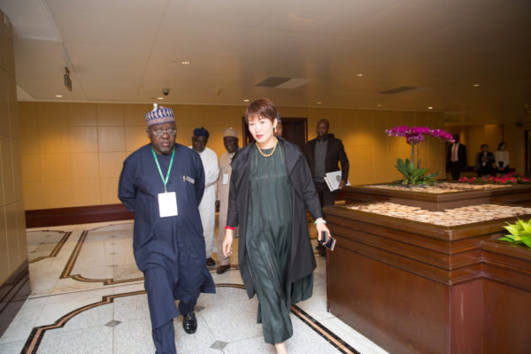 Governor of Nasarawa State, Umaru Tanko Al-Makura & President of Choice International, Ms. Diana Chan