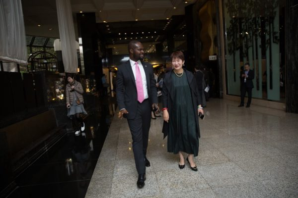 CEO of Del-York International, Linus Idahosa & President of Choice International, Diana Chan