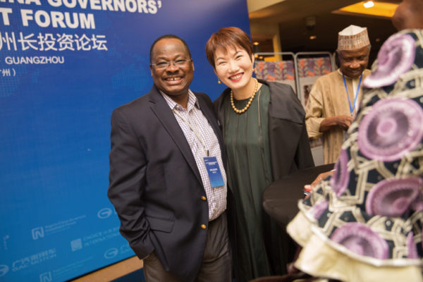 Governor of Oyo State, Abiola Ajimobi & President of Choice International, Ms. Diana Chan