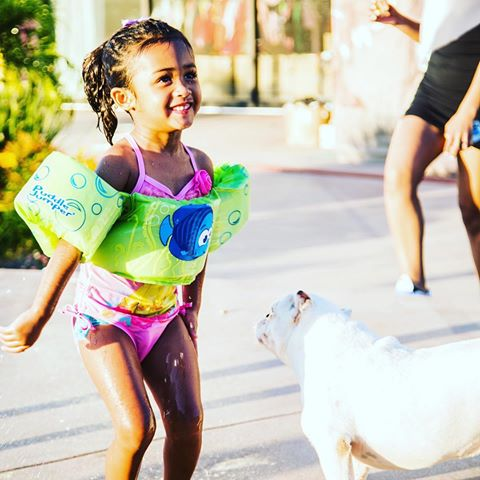 BellaNaija - Chris Brown throws Lovely Pool Party for Royalty's Third Birthday | See Photos
