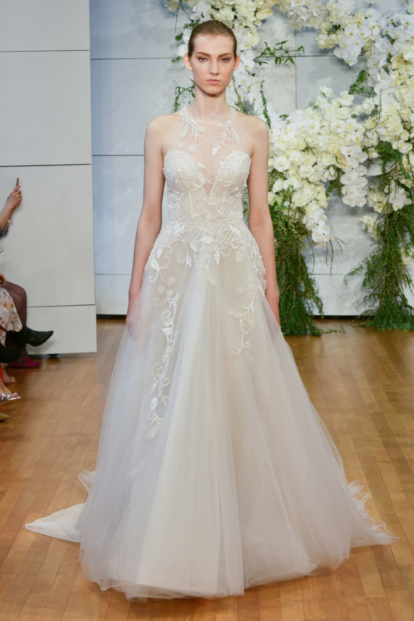 Bn bridal monique lhuillier bridal fashion week spring for Monique lhullier wedding dress