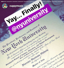 BellaNaija - Over and Out! DJ Cuppy finally receives her Masters Certificate