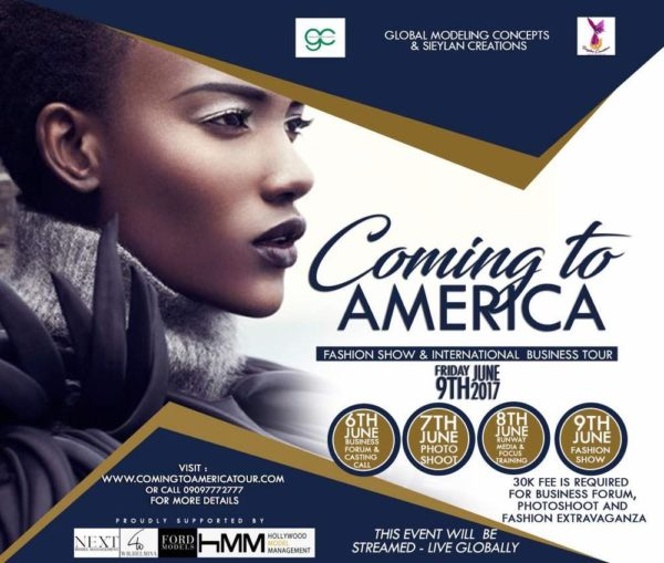 Coming To America fashion and business tour