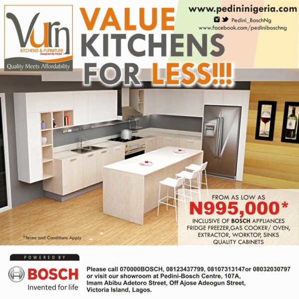 Get The Best Value For Less With Vurn Mini Kitchen! A Complete Kitchen For  As Low As N995,000 | Offer Ends May 30th   BellaNaija
