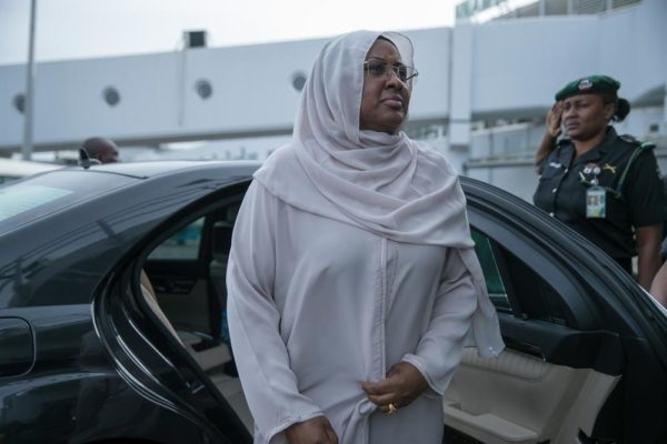 Aisha Buhari returns to the UK to visit President Buhari