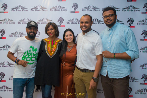Ali Grema, Latiwa Amato, Maria Itriago, Hamza Grema and Simi Vijay at Abuja Times