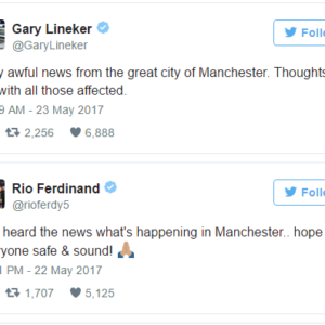#PrayForManchester: Football World reacts as 19 killed in Suspected UK Terror Attack