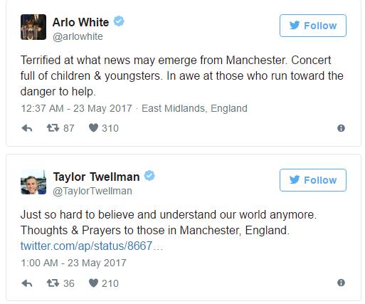 #PrayForManchester: Football World reacts as 19 killed in Suspected UK Terror Attack