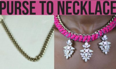 Turn an Old Purse in a Glam Necklace with This Tutorial by DIY Dose