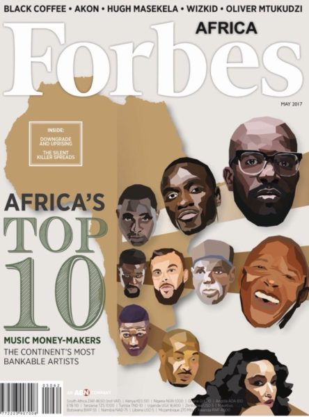 Don Jazzy, Wizkid, Davido, Sarkodie & More listed as Forbes Africa's Top 10 Richest African Musicians