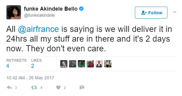 BellaNaija - Funke Akindele Bello accuses Air France of delaying her Luggage