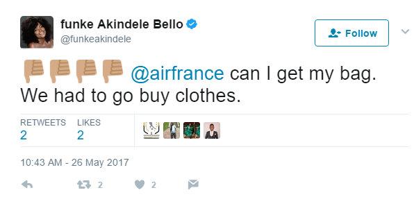 BellaNaija - Funke Akindele Bello accuses Air France of delaying her Luggage