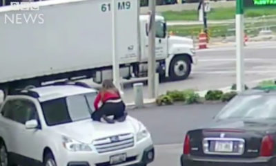 BellaNaija - Brave Woman stops Thief from getting away with Her Car | Watch