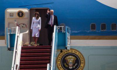 Awkward! Melania Trump Slaps off President Trump's Hand In Front of World Media
