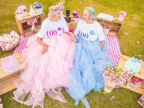 BellaNaija - So Lovely! Brazilian Twin Sisters celebrate 100th Birthday with Playful Shoot