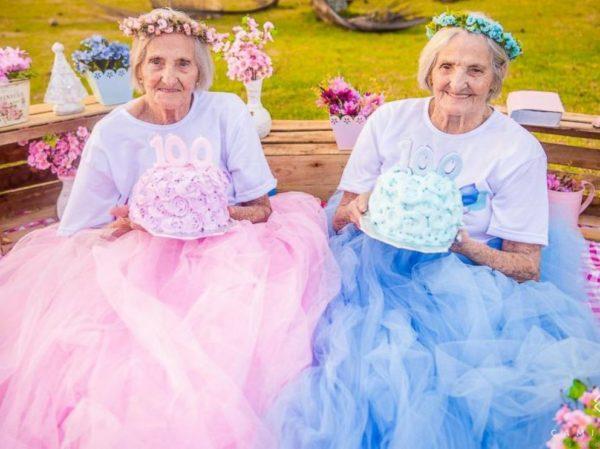 BellaNaija - So Lovely! Brazilian Twin Sisters celebrate 100th Birthday with Playful Shoot