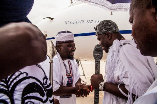 The Dan Amana receiving the Ooni of Ife at Dutse Int'l Airport