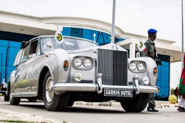 Staff car of the Emir of Dutse at Dutse Int'l Airport to receive the Ooni of Ife